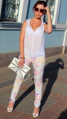 Цветные джинсы / Фотофорум / Burdastyle