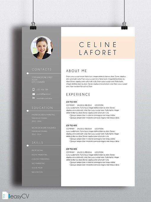 16 best Template CV images on Pinterest Design resume, Resume