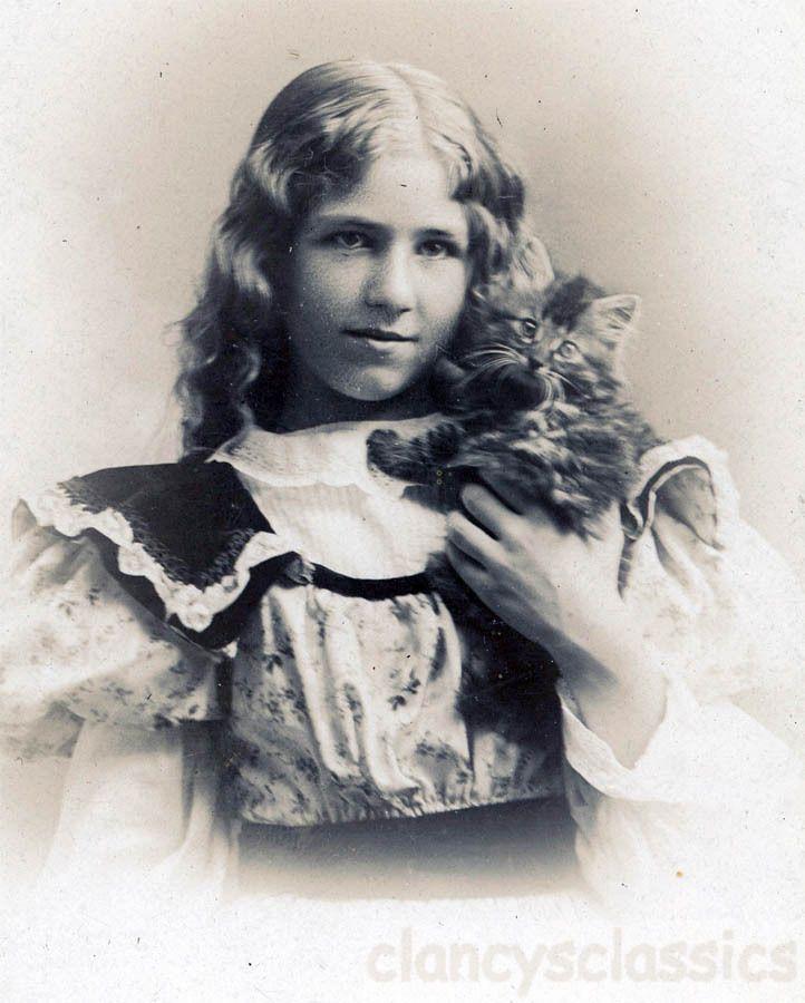 Bessie Maude Cressey w mancoon Cat Kitty Newark New Jersey Cabinet | eBay
