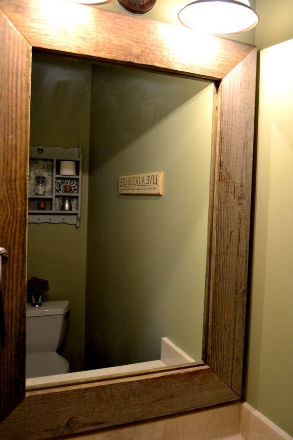 1000 ideas about framing a mirror on bathroom