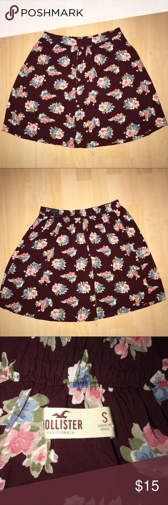 Floral Hollister skirt Size small and never worn Hollister Skirts Mini