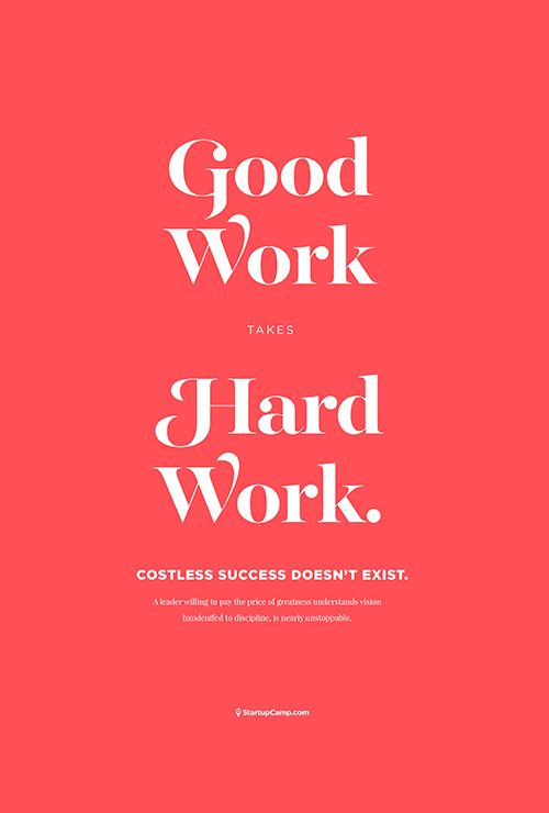 Good Work Print