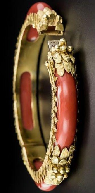 Gump's Coral Bangle Bracelet