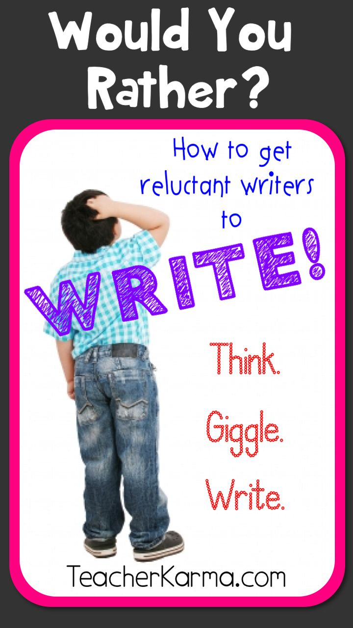 Creative writing ideas for reluctant writers
