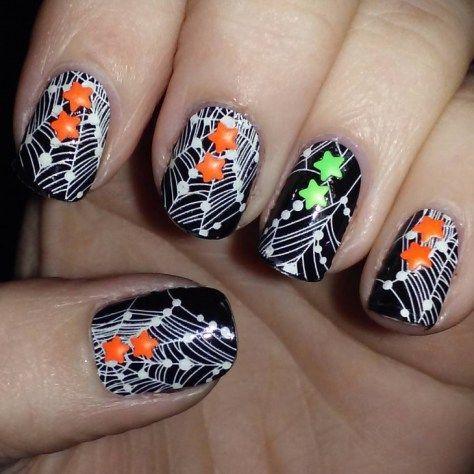 """Ногти с паутиной на хэллоуин (фото) Мастер-класс """"Паутина"""". Маникюр в стиле Halloween Шаг 1. Нанесение ба...  #маникюр #ногти #паутина"""