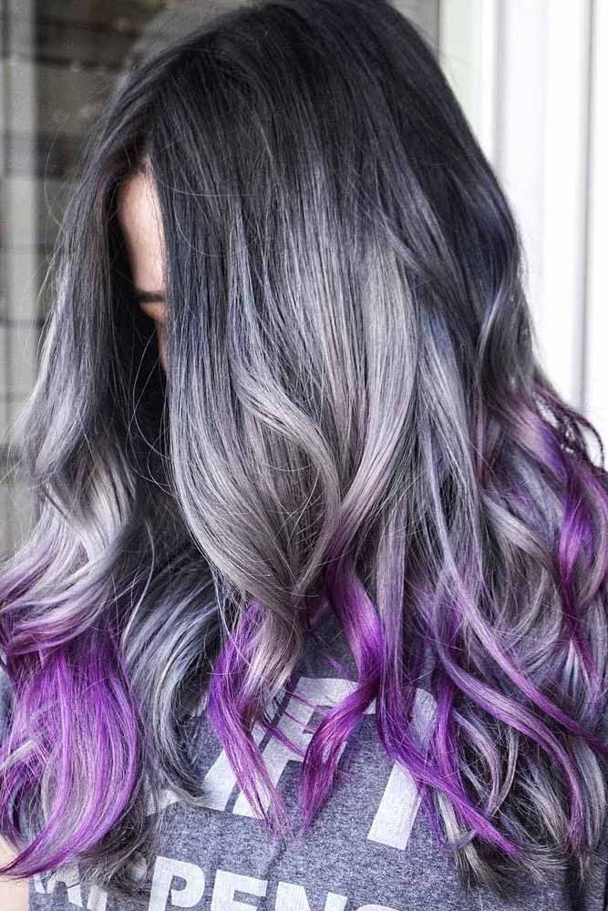 33 stunning silver ombre hair ideas you 39 ll ever see hairstyles pinterest cabello gris. Black Bedroom Furniture Sets. Home Design Ideas
