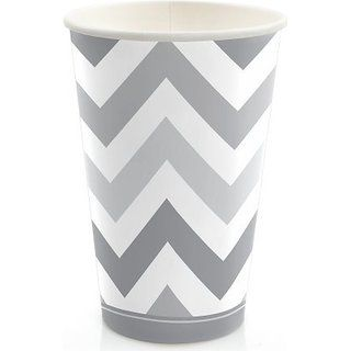 35 best polka dot party supplies images on pinterest party chevron gray hot cold drinking cups 8 count junglespirit Gallery