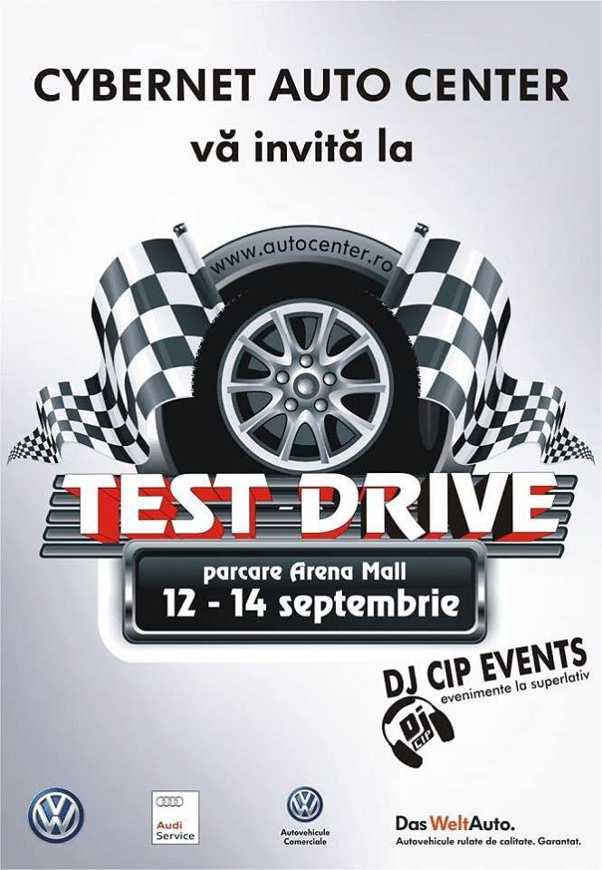 INVITAȚIE LA TEST DRIVE CU CYBERNET AUTO CENTER: 12.09-14.09.2014 | Arena Mall Bacău