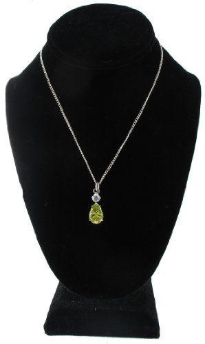 "New Green Pear Shape Rhinestone Pendant Necklace china. $12.95. Materials: Rhinestone. Silver Plated Metal. Length: 16"", Pendant: 1"" x 1/2"". Save 44%!"