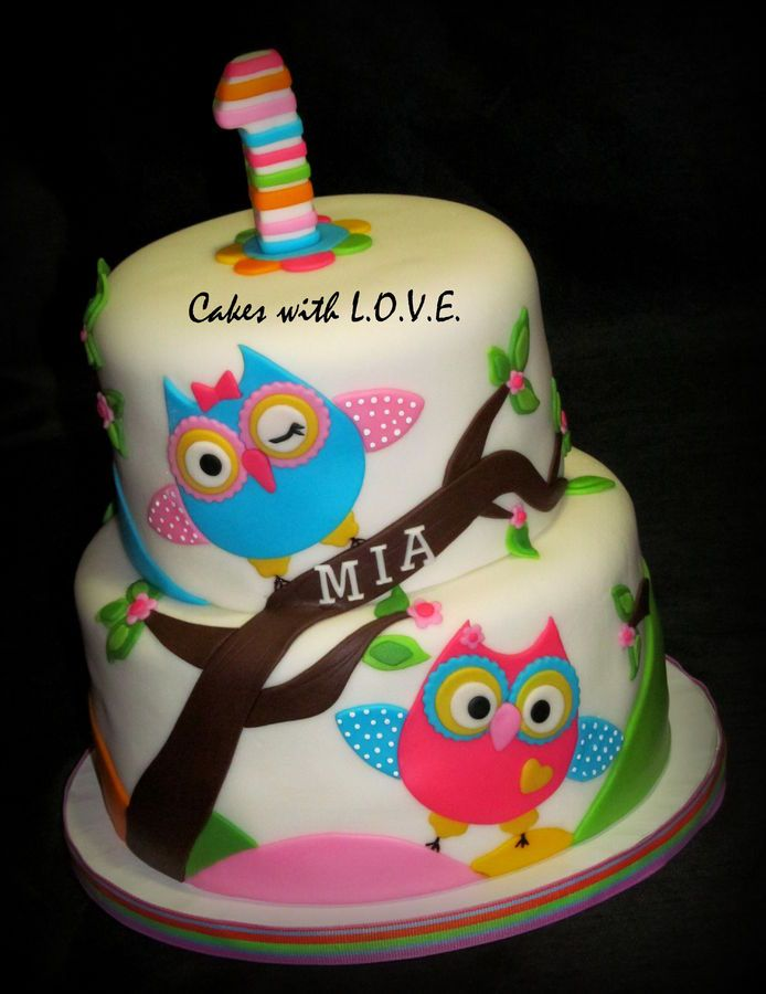 You're a Hoot First Birthday — Children's Birthday Cakes