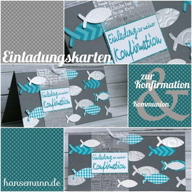 Nr. 5 - Einladungskarten zur Konfirmation / Kommunion - Materiallinks zur Musterkarte
