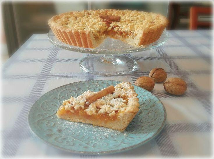 Sbriciolata di marmellata di fichi e noci al profumo di zenzero e cannella | Vegan blog - Ricette Vegan