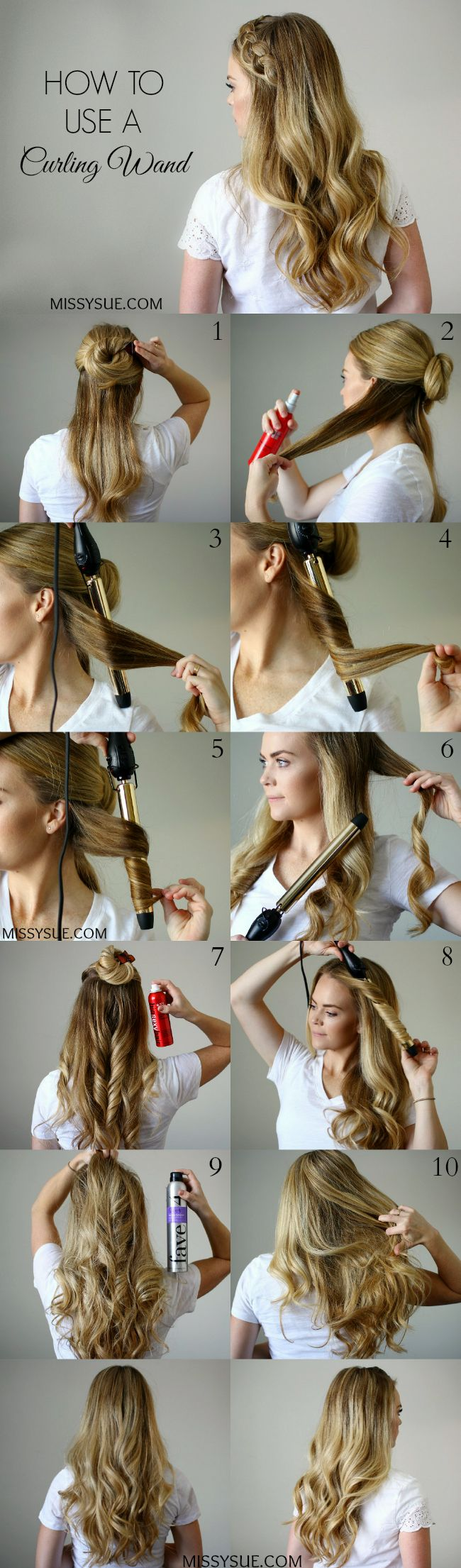 25 unique curling wand tips ideas on pinterest easy curls how to use a curling wand tutorial urmus Images