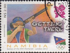 Stamp: Shooting (Namibia) (Olympic Games - London) Mi:NA 1411