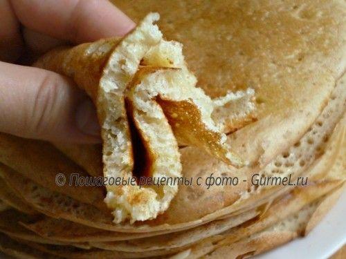 Татарские дрожжевые блины (тәбикмәк) с манкой и содой