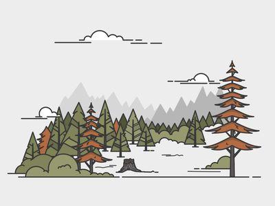 Few trees by Meg Robichaud