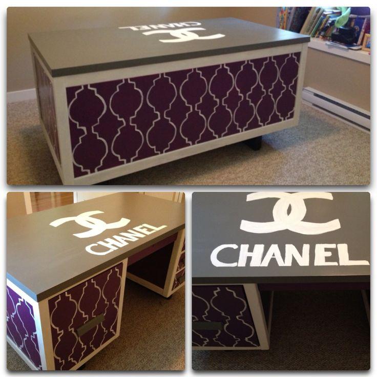 Refurbished DIY Chanel Desk