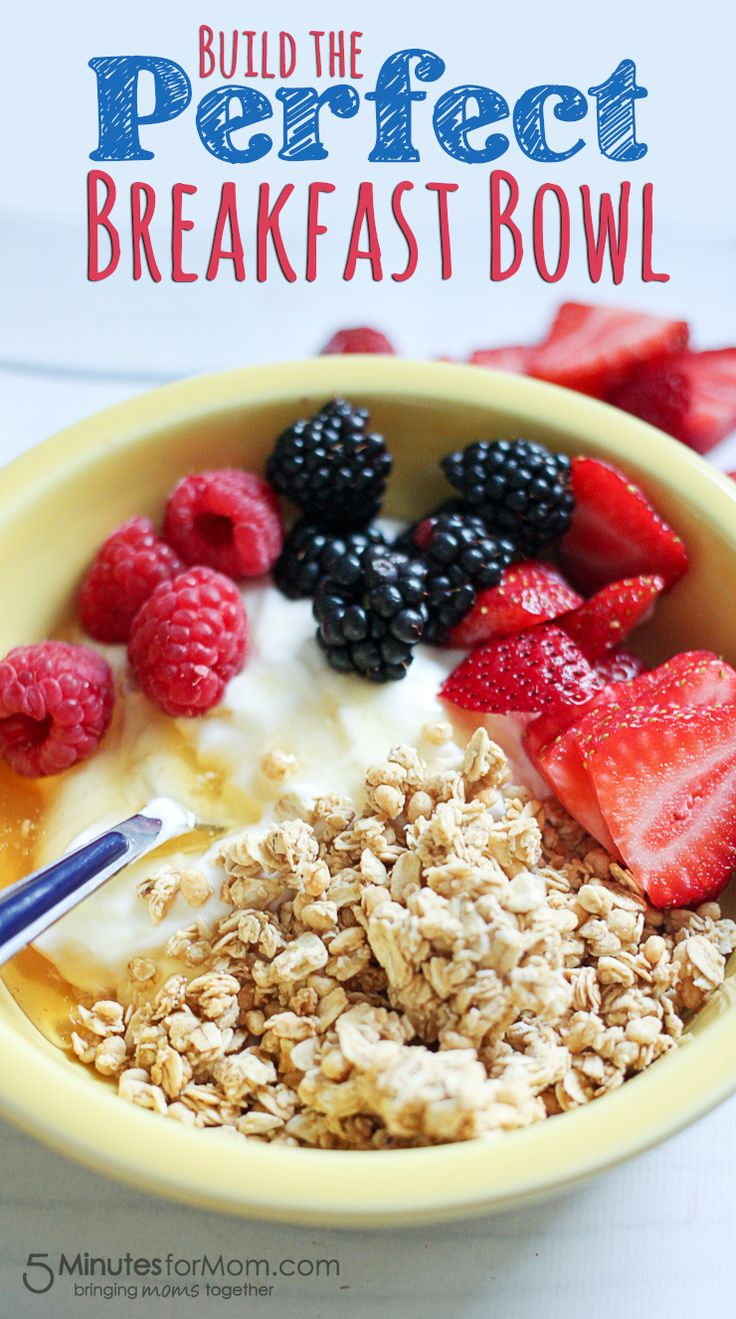 Delicious and Healthy Breakfast Bowl with Chobani Greek Yogurt!