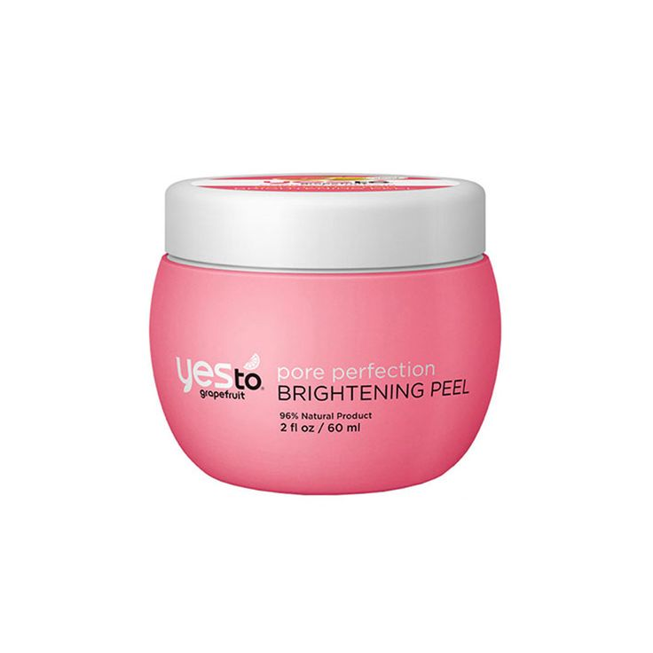 """Yes to grapefruit pore perfection brightening peel-""""One use of this treatment exfoliates, shrinks the appearance of pores, minimizes the look of dark spots and pumps skin with moisture all in one easy step."""""""
