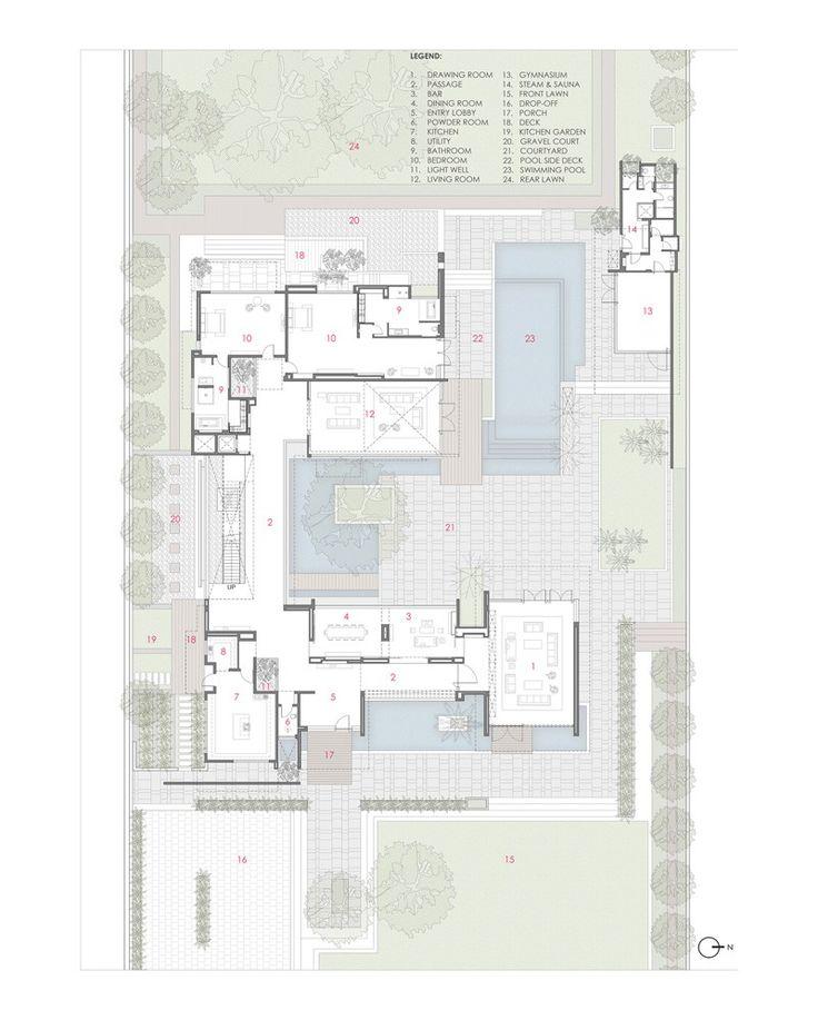 Contemporary house 150515 16 planos de casas con piscina for Planos de piscinas semiolimpicas