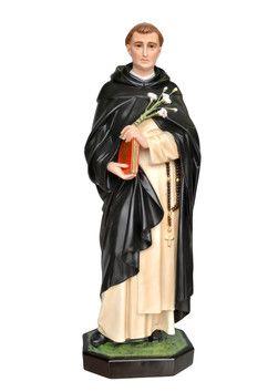 S. Domenico Guzman  altezza cm. 82 in vetroresina dipinto con colori acrilici e finiture ad olio disponibile anche con occhi di vetro  http://www.ovunqueproteggimi.com/collezione-statue/santi/domenico-gouzman/