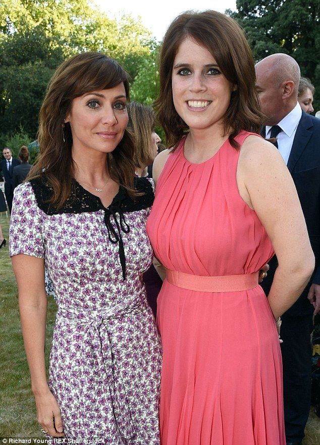 Star support: Eugenie poses with one of Elephant Family's high profile supporters, Natalie Imbruglia