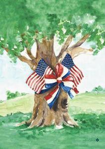 patriotic oak decorative house flag - Decorative House Flags