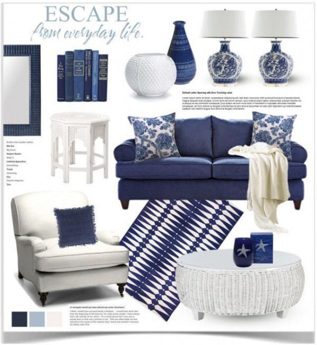 Utilisation Du Bleu Et Du Blanc En Deco Livingroomfurniture Living Room Furniture Blue Blue And White Living Room Blue Living Room White Decor Blue living room furniture decorating
