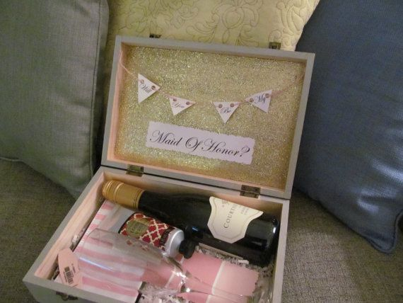 Will You Be My Maid Of Honor Box Gift Engagement Party Perect For