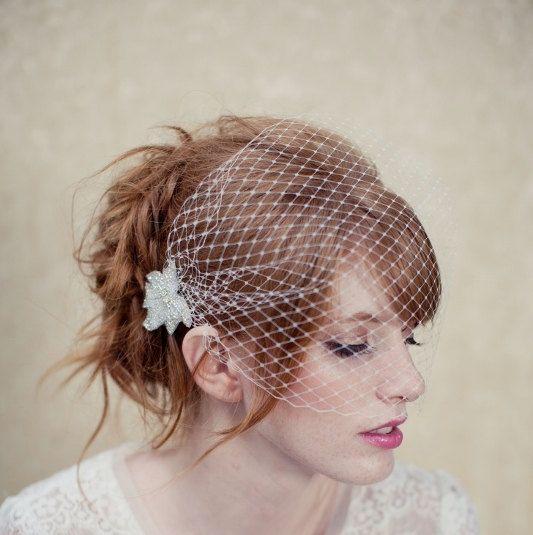 Birdcage veil, bandeau veil, russian veiling, cage veil, bridal veil, wedding headpiece,