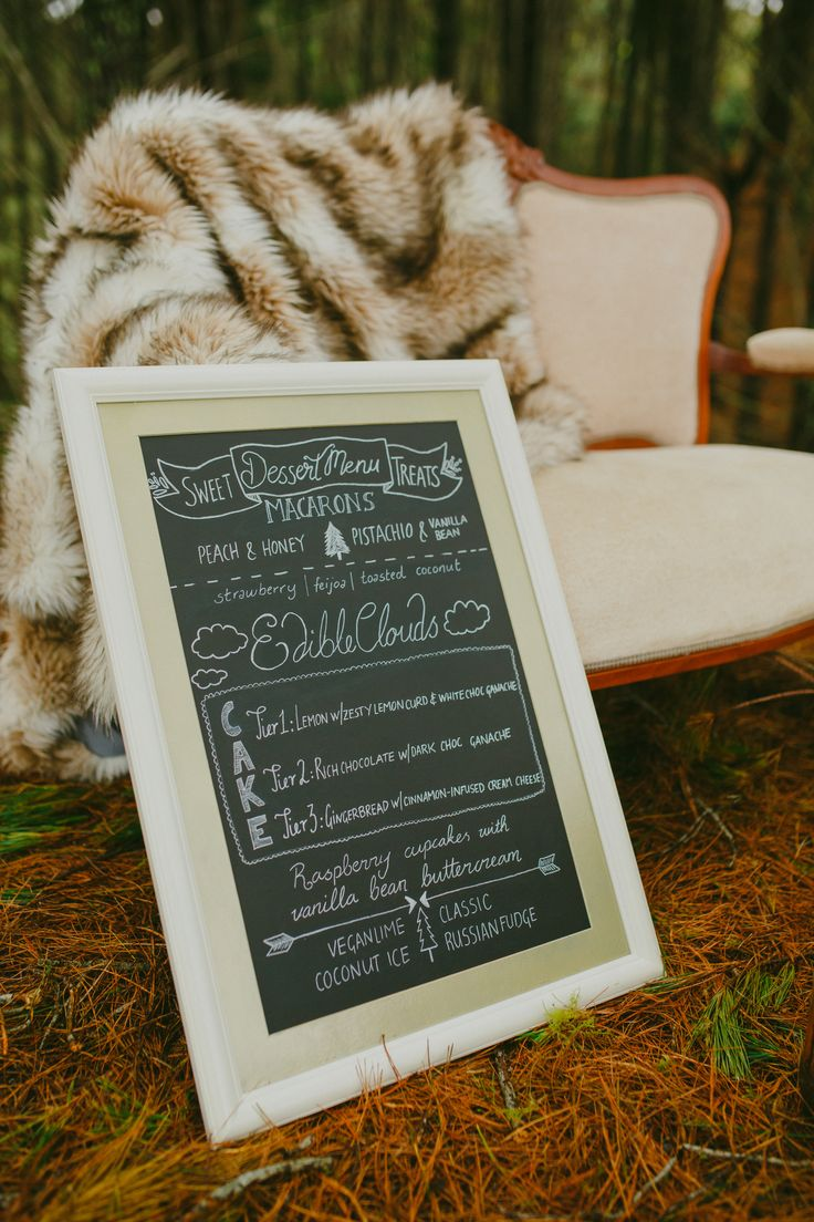 cream and gold chalkboard menu- Auckland Wedding Hire #meanttobeNZ
