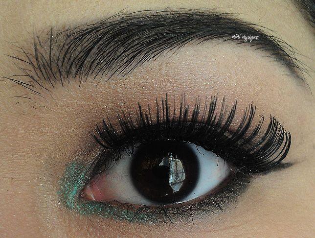 Simple eye makeup look