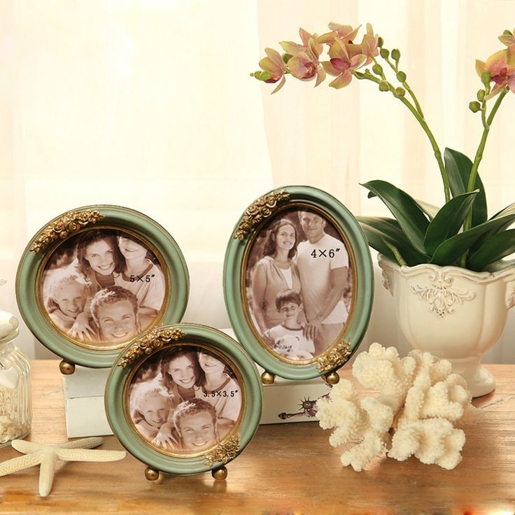 Round Photo Frame for Home Decoration
