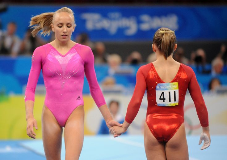 Nastia Liukin and Shawn Johnson