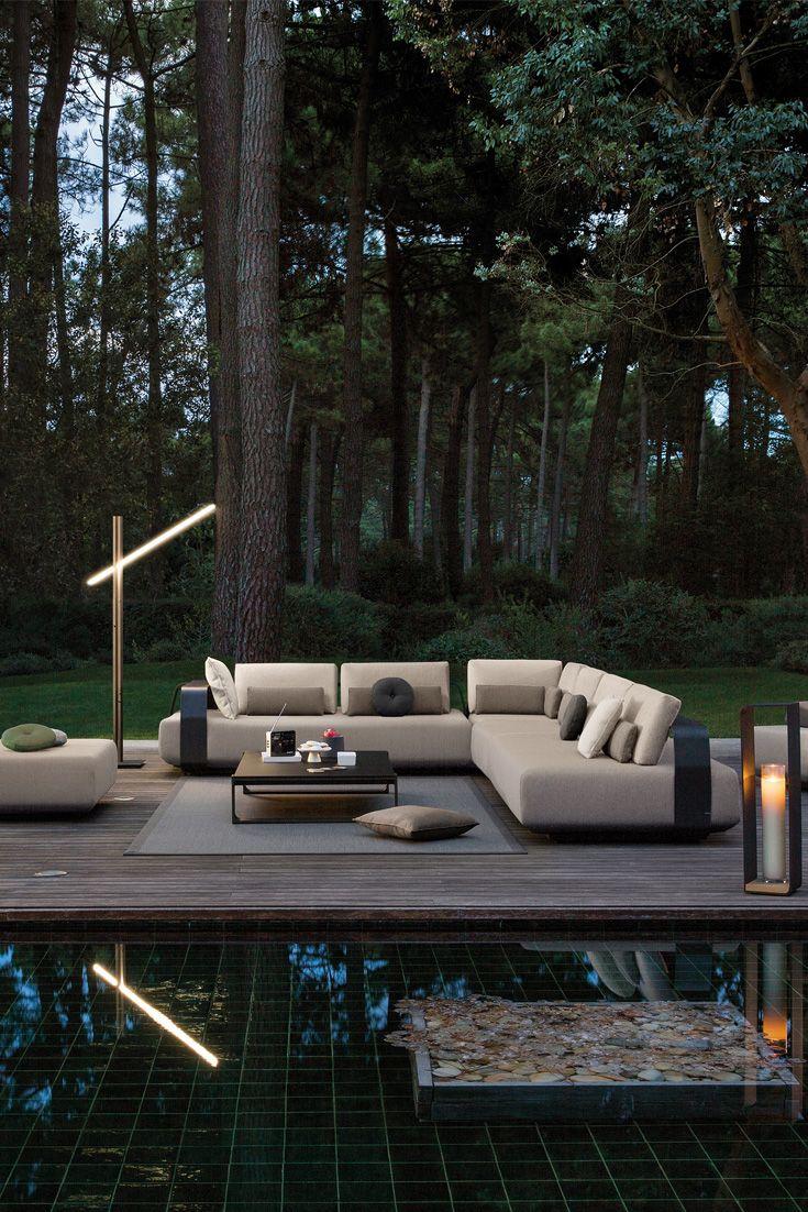 Contemporary Outdoor Designer Luxury Modular L Shaped Sofa Contemporary Outdoor Luxury Garden Furniture Contemporary Outdoor Furniture