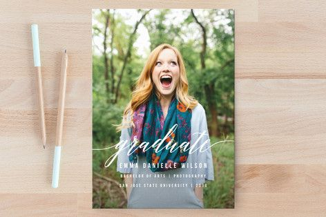 Simple Style Graduation Announcements by Simona Cavallaro at minted.com