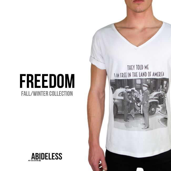 Idea of this design is to point out how relative is FREEDOM. It's a timeless message which is relevant throughout the modern history of human kind and ABIDELESS is bringing this idea into Fashion. Stay tuned for more! #ABIDELESS #FallWinter #Freedom