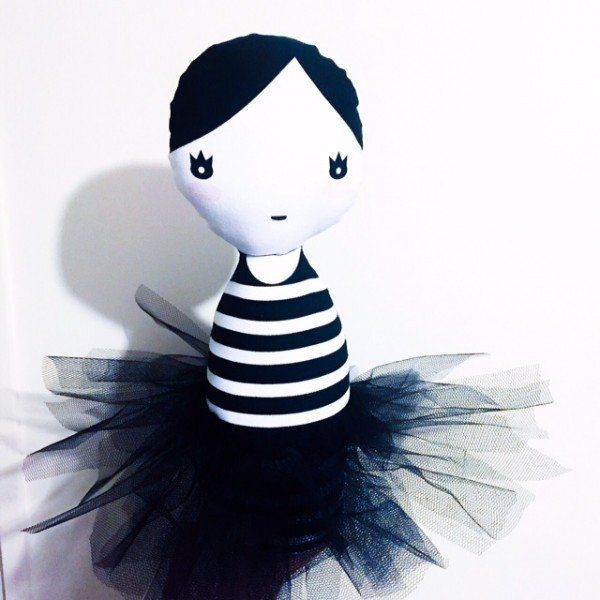 Striped Ballerina Doll