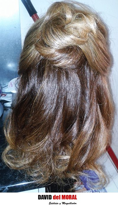 #semirecogido #anillas #rizado #ondas #tirabuzones #ghd #hair #cabello #peinado #hairstyle