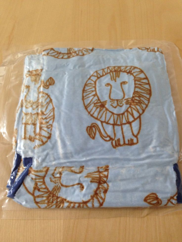 Lisa's lion pattern blanket