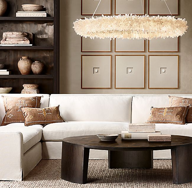 Wyeth Split Bamboo Round Coffee Table Coffee Table Restoration Hardware Dining Room Round Coffee Table