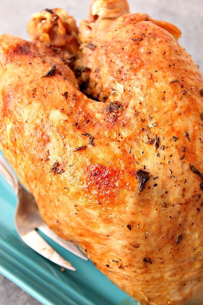 Instant Pot Turkey Breast Recipe - juicy turkey breast cooked in pressure cooker in just 35 minutes! The best way to save time preparing Thanksgiving dinner. #Jamie'scookingtips