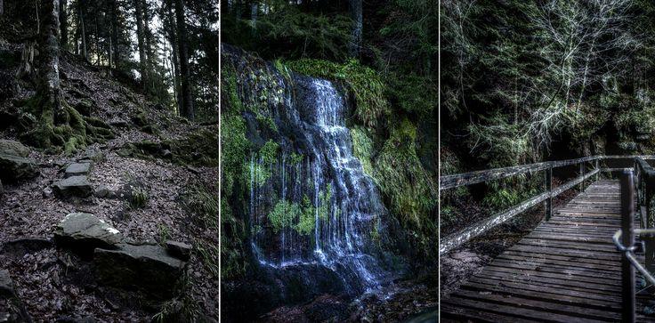 https://flic.kr/p/FHprGm   Der kleine Sankenbachwasserfall bei Baiersbronn.   Zugänge: vom Sankenbachsee (links), etwas mühselig und nicht ungefährlich oder vom Sankenbachsträssle(rechts).