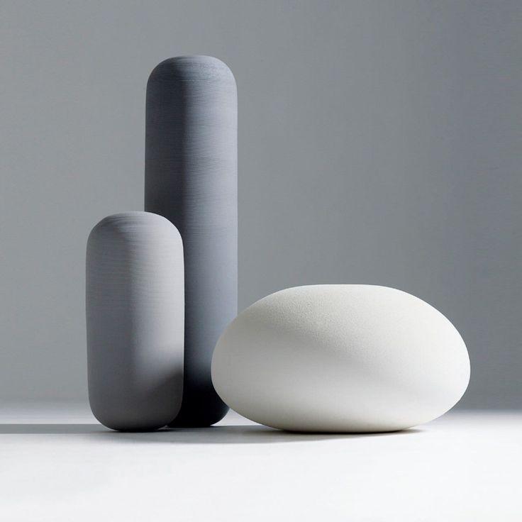 Florero de diseño original / de cerámica OOPS by Roberto & Ludovica Palomba BOSA