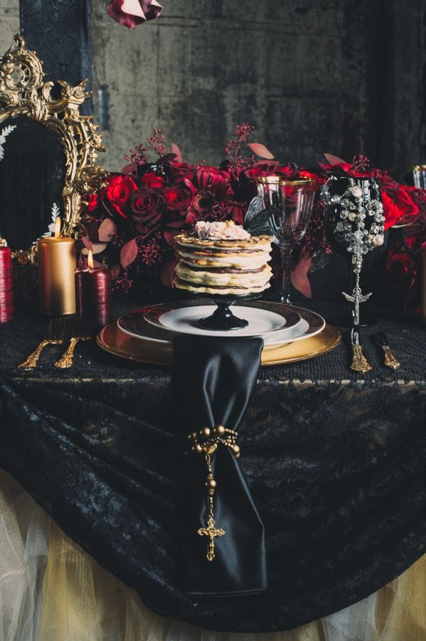 Gothic Wedding Reception Decorations Romantic Victorian Gothic