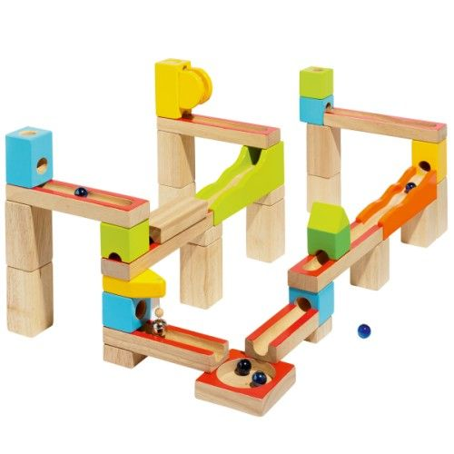 Circuit de billes en bois à construire Oxybul pour enfant de 4 ans à 7 ans - Oxybul éveil et jeux