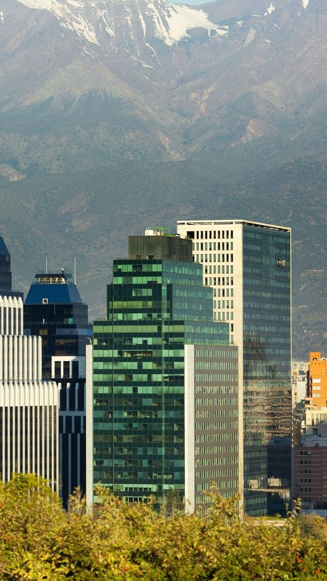 Santiago--I love the urban city down in the valley surrounding by towering mountains all around.