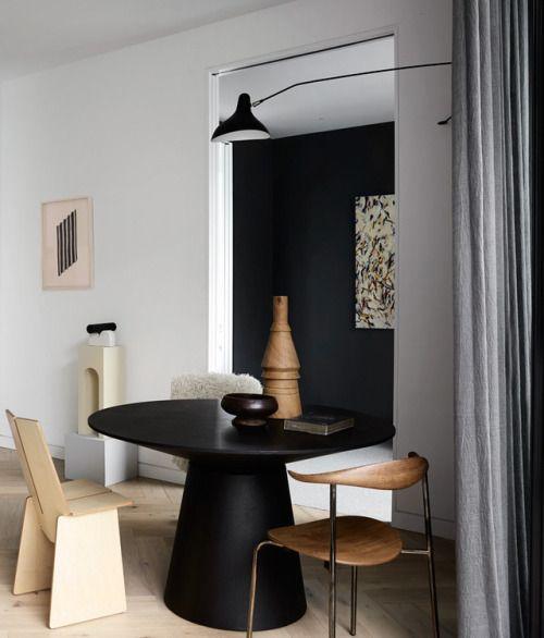 Une salle à manger au look très contemporain et design