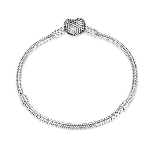 Fine Jewelry Made In Italy Womens 7 1/2 Inch Sterling Silver Chain Bracelet ff79Pbm3Mc