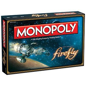 In this custom edition of Monopoly, nearly every element of the game has been redesigned, Firefly-style.
